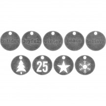 Tim Holtz Idea-ology Typed Tokens Christmas TH93750