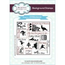 """Creative Expressions 4""""x4"""" 12 Days Background Cling Stamp - UMS647"""