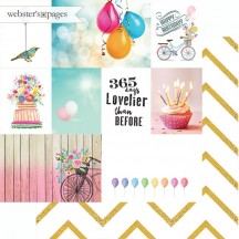 "Webster's Pages Make A Wish 365 Days 12""x12"" Double Sided Cardstock - Journaling Elements Cards US2382D"