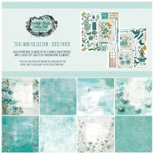 """49 and Market Vintage Artistry Teal 12""""x12"""" Mini Collection Pack VAC-35014"""