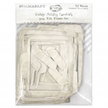 "49 and Market Vintage Artistry Essentials 3""x4"" File Frame Set Die-Cut Cardstock VAE33706"
