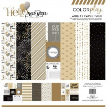 "Photoplay Hello New Year Colorplay 12""x12"" Variety Paper Pack"