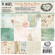 "49 and Market Vintage Artistry Shore 6""x6"" Mini Collection Pack VAS32938"