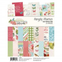 "Simple Stories Simple Vintage Botanicals 6""x8"" Double-Sided Paper Pad 10490"
