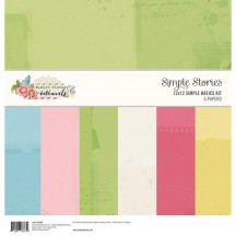 "Simple Stories Simple Vintage Botanicals Simple Basics 12""x12"" Paper Kit 10496"