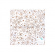 """American Crafts Dear Lizzy Stay Colorful Gold Foil Vellum 12""""x12"""" Sheet 346499"""