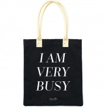 Teresa Collins I Am Very Busy Black & Gold Tote Bag 1001