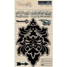 Teresa Collins Vintage Finds 2 Clear Stamp Set - VF1022