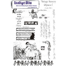 IndigoBlu A5 Cling Mounted Rubber Stamp Sheet - Vintage Nursery Rhymes I