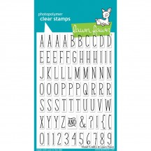 """Lawn Fawn Violets's ABCs 4""""x6"""" Clear Alphabet Letter Stamps LF732"""