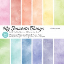 "My Favorite Things Watercolor Wash Brights 6""x6"" Paper Pack"
