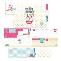 Webster's Pages Sweet Routine Pre-Designed Chipboard Book MINB03