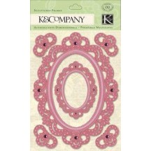 K&Co Watercolor Bouquet Embossed Frames