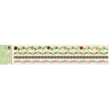 K&Co Watercolor Bouquet Specialty Adhesive Borders