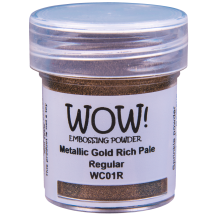 WOW! Metallic Gold Rich Pale Embossing Powder - WC01 (R)