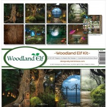 "Reminisce Woodland Elf 12""x12"" Paper Crafting Kit WE-200"