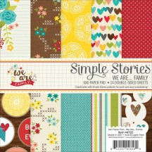 "Simple Stories We Are... Family 6""x6"" Double-Sided Paper Pad 4722"