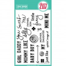 """Avery Elle We R Family 4""""x6"""" Clear Stamp Set"""