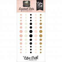 Echo Park Wedding Day Enamel Dots white blush black gold WD181028