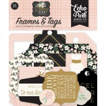 Echo Park Wedding Day Ephemera Frames & Tags Die Cut Cardstock Pieces WD181025