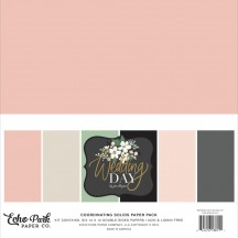 "Echo Park Wedding Day 12""x12"" Solids Paper Kit WD181015"