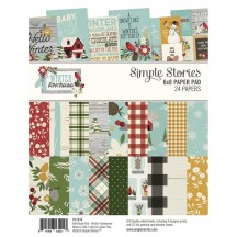"Simple Stories Winter Farmhouse 6""x8"" Double-Sided Paper Pad 11618"