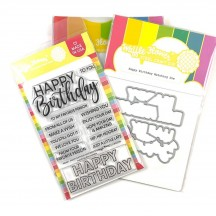 Waffle Flower Happy Birthday Combo Clear Stamp & Die Set WFC491