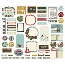 Simple Stories Winter Farmhouse Journal Bits & Pieces Die-Cut Cardstock Embellishments 11621