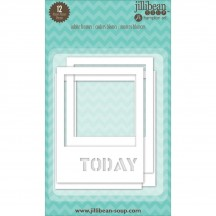 "Jillibean Soup Stampables 3""x4"" White Die-Cut Cardstock Frames JB0102"