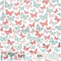 "American Crafts One Canoe Two Willow Butterflies Copper Foil Vellum 12""x12"" Sheet 355081"