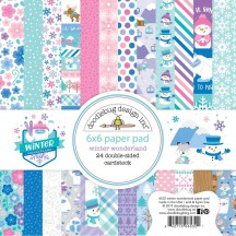 "Doodlebug Winter Wonderland 6""x6"" Paper Pad 24 Sheets 6532"