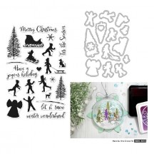 Hero Arts Winter Silhouettes Christmas Clear Stamp & Die Set