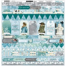 "Bo Bunny Winter Playground 12""x12"" Element & Border Combo Stickers 7310014"