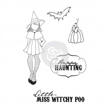 Prima Marketing Mixed Media Doll Witchy Poo Halloween Rubber Cling Stamp 910693