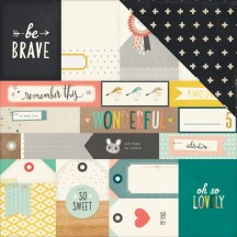 "Crate Paper Wonder Brave 12""x12"" Double Sided Cardstock 680218"