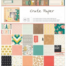 "Crate Paper Wonder Collection 12""x12"" Paper Pad 680225"