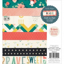 "Crate Paper Wonder 6""x6"" Paper Pad 36 Sheets 680224"