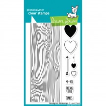 Lawn Fawn Woodgrain Backdrops Clear Stamps LF560
