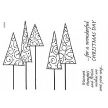 Woodware Leggy Trees Magic Christmas Stamp Set JGS534