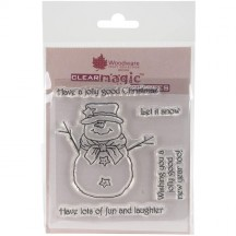 Woodware Mr Frosty Clear Magic Christmas Stamp Set FRS516