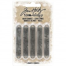 Tim Holtz Idea-ology Word Bands Christmas TH93742