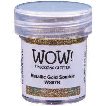 WOW! Metallic Gold Rich Sparkle Glitter Embossing Powder - WS07