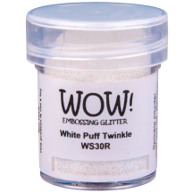 WOW! White Puff Twinkle Glitter Embossing Powder - WS30 (R)