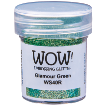 WOW! Glamour Green Glitter Embossing Powder - WS40 (R)