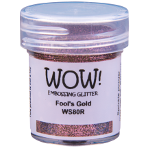 WOW! Fool's Gold Embossing Powder 15ml - Glitter - WS80 (R) Pink