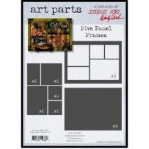 Studio 490 by Wendy Vecchi Art Parts from Stampers Anonymous - Five Panel Frames