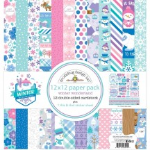 "Doodlebug Winter Wonderland 12""x12"" Paper Pack 6544"