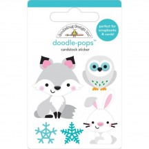 Doodlebug Winter Wonderland Foxy & Friends Doodle-Pops Dimensional Sticker 6467