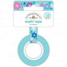 Doodlebug Winter Wonderland Ice Blossoms Snowflake Decorative Washi Tape 6435