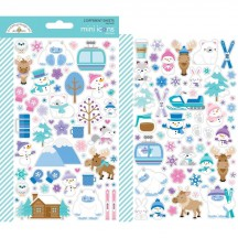 Doodlebug Winter Wonderland Mini Icons Cardstock Stickers 6472
